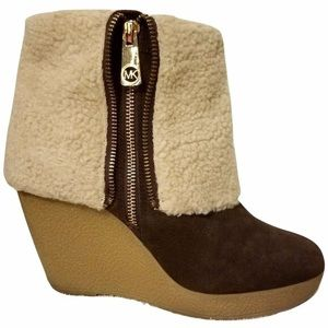 New Michael Kors Suede Wedge Boots 10